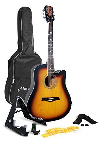 [해외]마틴 스미스 W-700-SB-PK 어쿠스틱 기타 팩, Sunburst/Martin Smith W-700-SB-PK Acoustic Guitar Pack, Sunburst