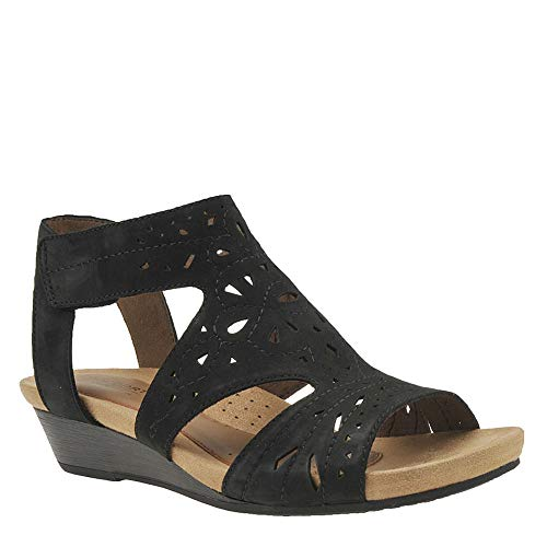- Rockport New Cobb Hill Women's Hollywood Hi Caged Sandal Black 9