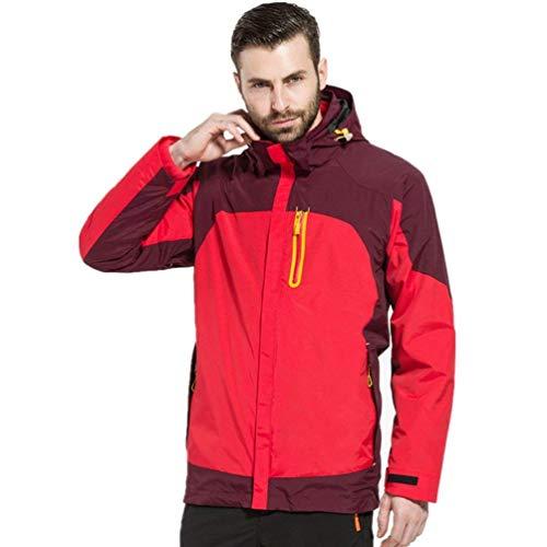 Sportswear Trekking Con In Outdoor Pile E Dimensione Alpinista large Giacca Uomo Impermeabile Cappuccio Red Giacche Xxx men Softshell Donna colore Da Travel Invernale zwzO8qvF