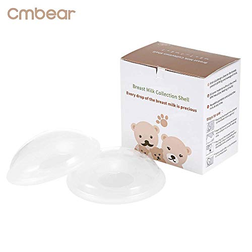 Breast Shells Nursing Cups Milk Saver Protect Sore Nipples for Breastfeeding Collect Breastmilk Leaks for Nursing Moms Soft and Flexible Silicone Material Reusable 2-Pack