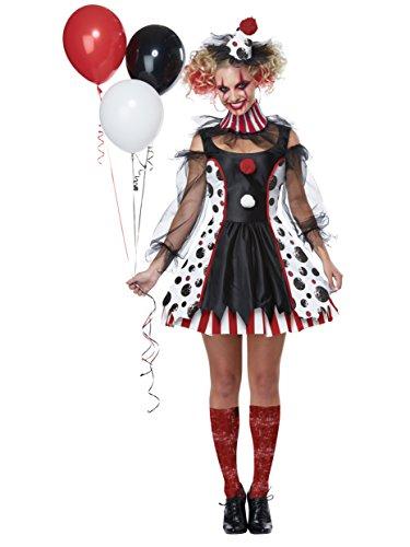 Popular Adult Halloween Costumes (California Costumes Twisted Clown Adult Costume-Medium)