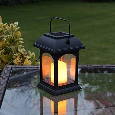 Nasharia - Farol solar para exterior con efecto titilante, con velas, decoración para jardín, terrazas, casa, pared, camino de entrada, césped: Amazon.es: Hogar
