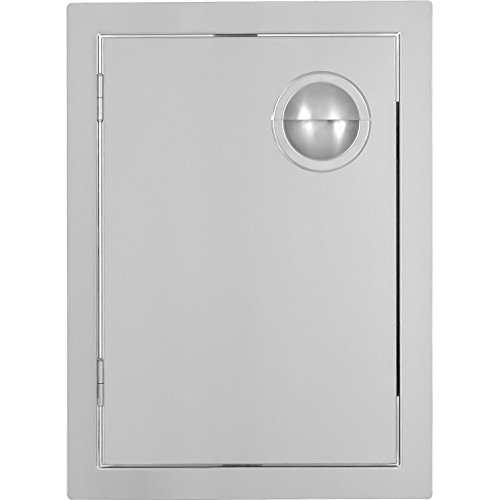 Single Flush Mounted Drawers (BBQGuys.com Portofino Series 17-inch Stainless Steel Left-hinged Single Access Door - Vertical)