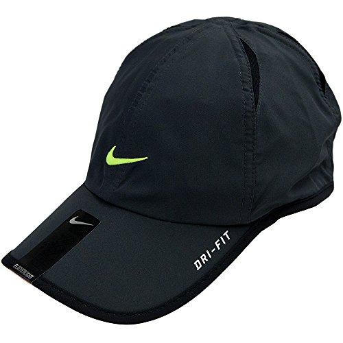 Nike Unisex Feather Light Tennis Hat, Charcoal/Volt