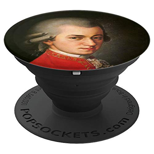 Mozart Wolfgang Amadeus Mozart Portrait - PopSockets Grip and Stand for Phones and Tablets