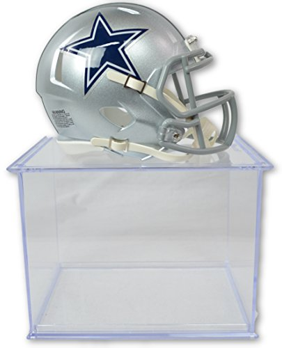 Authentic Mini Nfl Football Helmet - Official National Football League Fan Shop Authentic NFL Mini Speed Helmet and Display Case Bundle. Great Sports Fan Collectible - Office, Home or Man Cave (Dallas Cowboys)