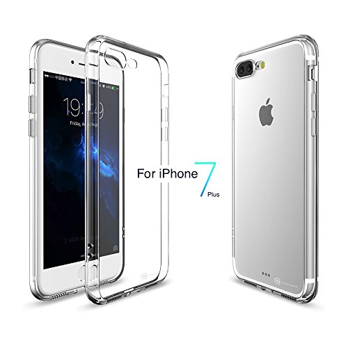 iPhone 7 Plus Case / iPhone 8 Plus Case, Case Army Scratch-Resistant thick Case Soft TPU for Apple iPhone Soft Sides TPU Bumper Silicone Cover ( iPhone 7 Plus Clear Case / iPhone 8 Plus Clear Case )