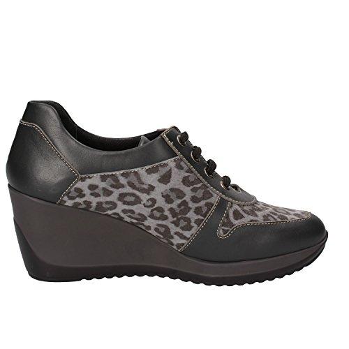 SUSIMODA Sneakers Damen 37 EU Grau Leder Wildleder