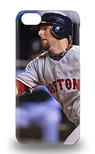 Iphone 5c MLB Boston Red Sox Dustin Pedroia #15 Print High Quality Tpu Gel Frame Case Cover