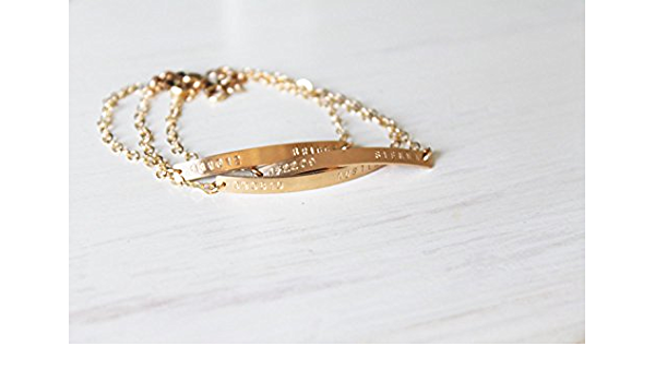 Gold Bracelet delicate Bracelet Curved Bar Bracelet Hammered Bar Bracelet Gold Bar Bracelet Simple Bar Bracelet Long Gold Bar Bracelet