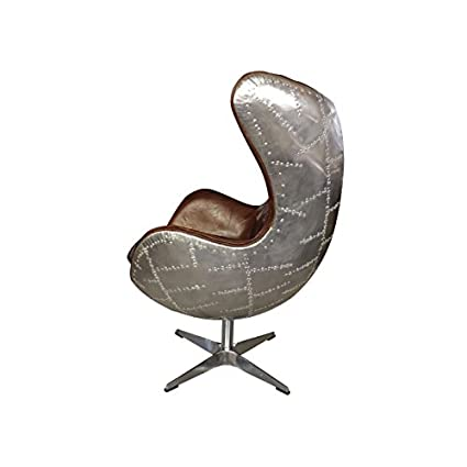 Strange Amazon Com Plata Aviator Spitfire Leather Egg Chair Ibusinesslaw Wood Chair Design Ideas Ibusinesslaworg
