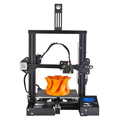 Nidouillet Creality Ender-3 3D Printer,DIY with Resume Printing V-Slot Prusa i3,for Home & School Use, Children 220x220x250mm AB008 (Best Cad Program For 3d Printing)