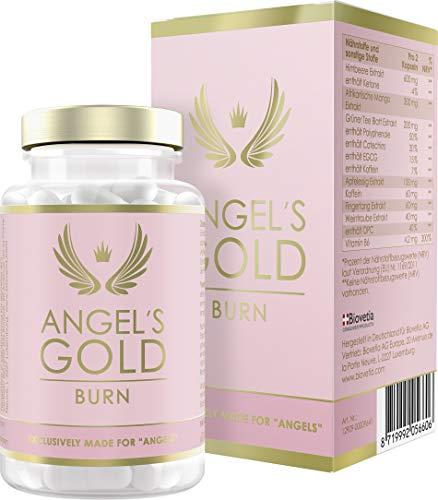 Angel's Gold Burn Fatburner für Frauen, schnell Abnehmen + Diät-Booster, exklusive Formel für noch schnelleres Abnehmen speziell während Diätphasen, 60 Kapseln