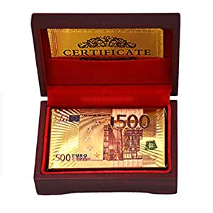 Paper playing V.I.P is made of gold foil. With a luxurious wooden box.