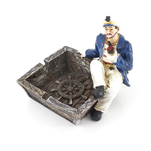 Cool Nautical Captain and Sailor Voyage Theme Ashtray for Ho