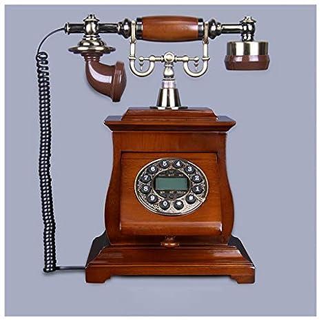 BAIF Hogar Antiguo Europeo Madera Maciza Vintage Antiguo Teléfono ...
