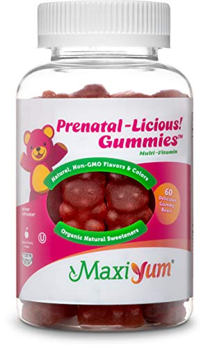 Cheap Maxi-Health Pre-Natal Gummy Vitamins for Women (60-Count) Natural, Cherry-Flavored Gummies | Multivitamin for Pregnant Ladies | Supports Hair and Nail Health