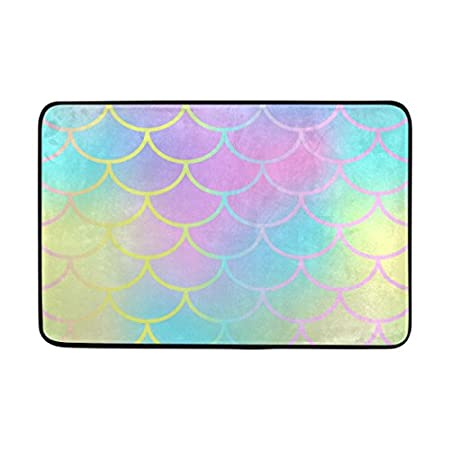 41SQi-P19LL._SS450_ 50+ Mermaid Themed Area Rugs