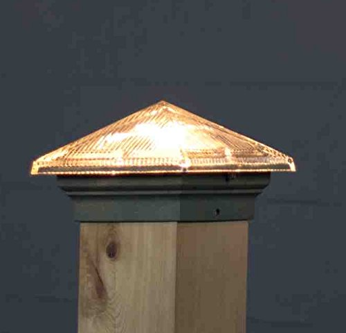 Aurora Glass Roof Pyramid 12V Deck Light, 3-1/2