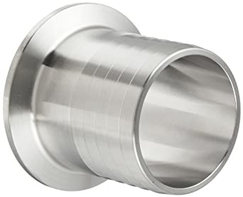 """Parker Sanitary Tube Fitting, Stainless Steel 304, Rubber Hose Adapter, 1-1/2"""" Tube OD x 1-1/2"""" Hose ID"""