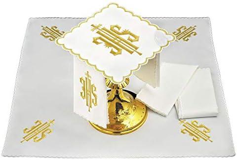 Servicio de Altar Hilo s?mbolo JHS Bordado Oro: Amazon.es: Hogar