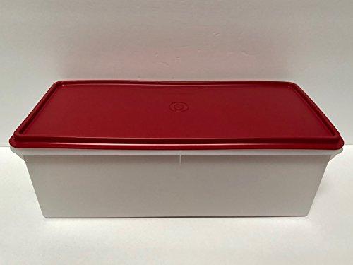 Tupperware Jumbo Bread Server Keeper Sheer with Red Seal (Jumbo Box Bread)