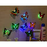 10 Pcs Colorful Butterfly Nightlight Bedroom LED Decorative Wall Lamp