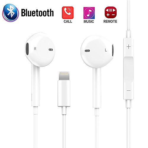 Earbuds Compaitible for IP 7 Plus, HKHONGDATECH Microphone Earphones Stereo Headphones and Noise Isolating Headset Applicable IP 7/7 Plus / 8/8 Plus