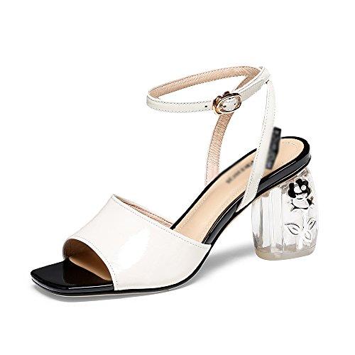 Grueso Zapatos Para Bajo Medio Huecas Mujer Tobillo B Tiras Verano Gljxg Sandalias De Moda Tacón qSWnpS48x