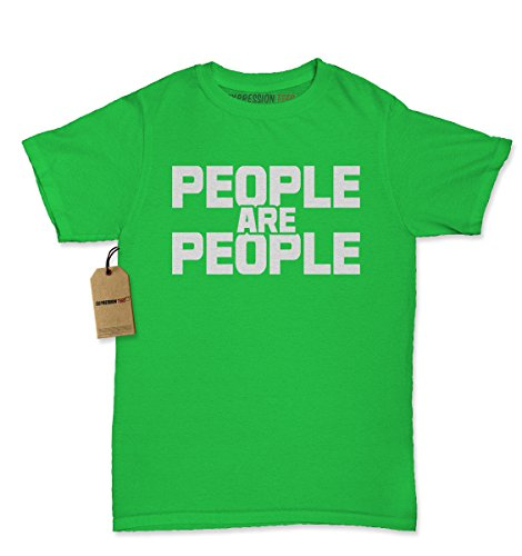 [Womens People Are People T-Shirt Medium Kelly Green] (Price Is Right Costume)