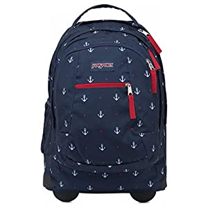 Jansport Driver 8 Core Series Wheeled Backpack (One Size, RED TAPE/LAND AHOY)
