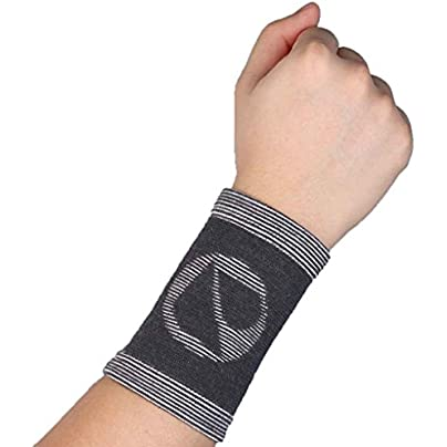 Elenxs Pair Bamboo Charcoal Sports Wristband Elastic Brace Wrist Support Estimated Price -