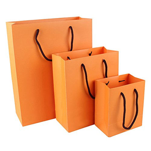 "100 PCS Aspire Colored Matte Laminated Paper Eurototes - Orange,6""x5""x3"""
