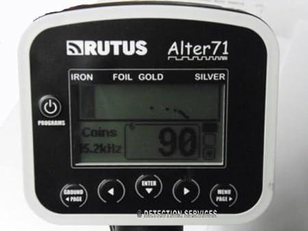rutus Alter 71 metal detector profesional cercametalli dorado y Preziosi: Amazon.es: Jardín