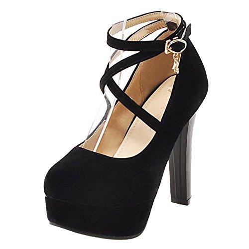 Coolcept Zapatos de Tacon Alto para Mujer Black