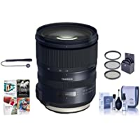 Tamron SP 24-70mm f/2.8 Di VC USD G2 Lens for Nikon DSLRs - Bundle With 82mm Filter Kit, Cleaning Kit, Capleash II, Software Package