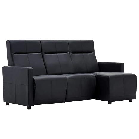 Xingshuoonline - Sofá reclinable en Forma de L, de Piel ...