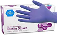 MedPride Nitrile Exam Gloves, Powder-Free, Small, Box/100