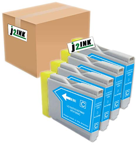 Lc51 Cyan Compatible Ink - J2INK 4 Pack Compatible Cartridges for Brother LC-51 Includes Cartridges for 4 ea LC-51 Cyan High Yield