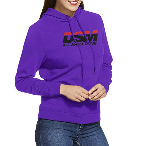 DSM All Wheel Drive (Diamond Star Motors) Women's Long Sleeve Lightweight Hooded Sweatshirt -