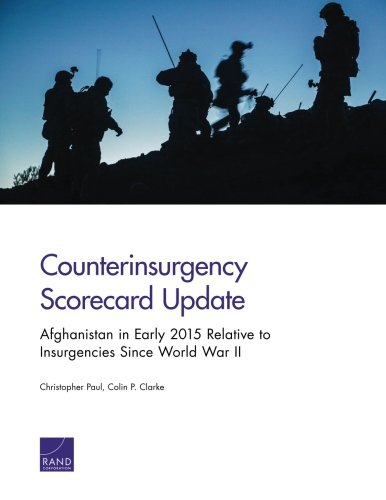 Read Online Counterinsurgency Scorecard Update: Afghanistan in Early 2015 Relative to Insurgencies Since World War Ii pdf epub