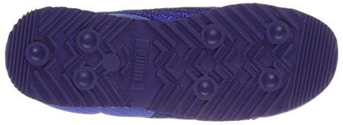PUMA Girls Roma Glitz Glamm Mesh Sneaker, Baja Blue-Baja Blue, 11 M US Little Kid