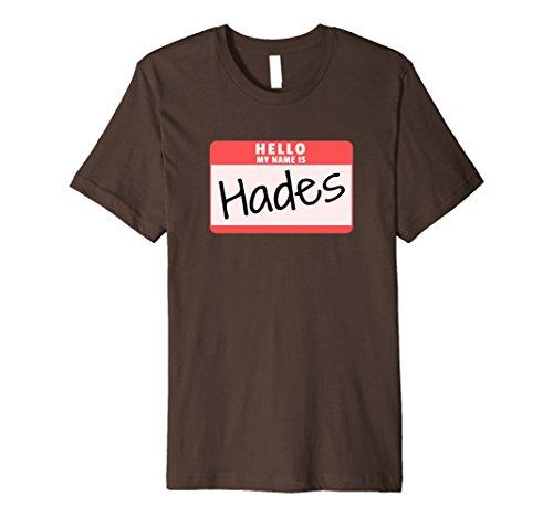 Mens Hello My Name is Hades Funny Halloween Greek God Premium Tee XL Brown