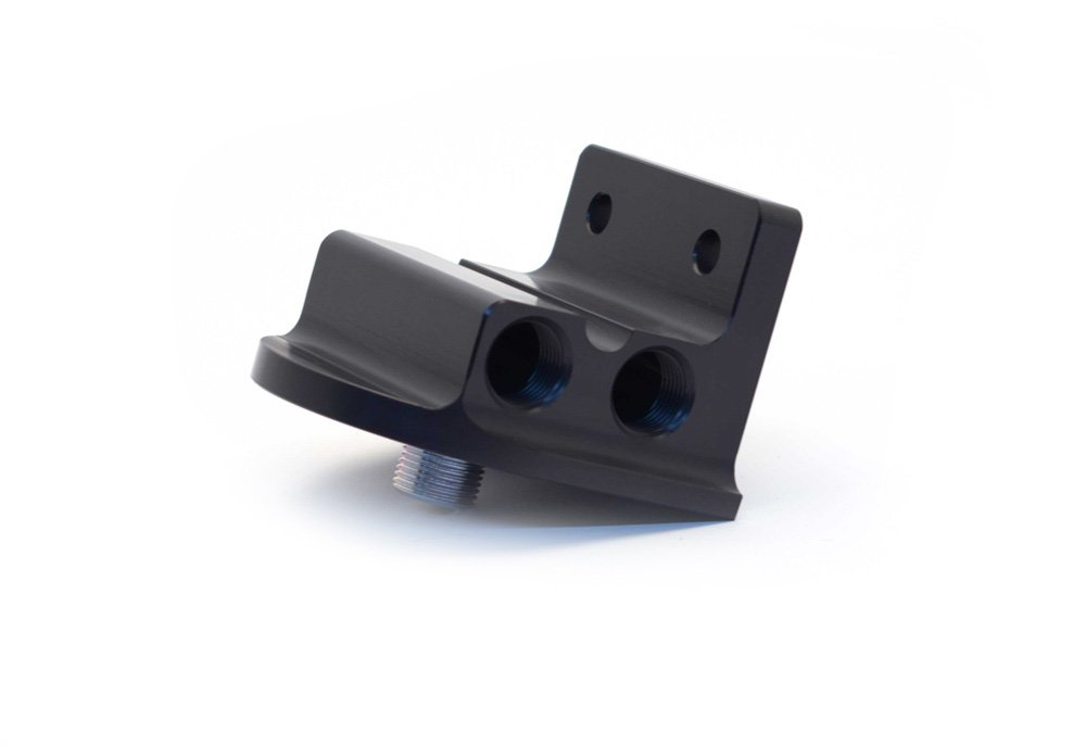 Canton Racing Products 22-625 Billet Aluminum Remote Oil Filter Mount