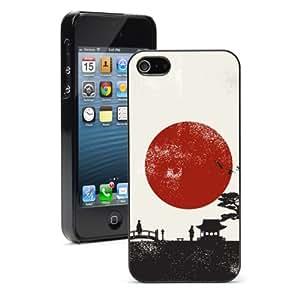 Apple iPhone 6 6s Hard Back Case Cover Japan Scenery (Black)