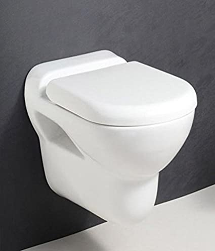 Hindware Dove 20080 Ceramic Wall Hung Water Closet (White ,Two Pieces)