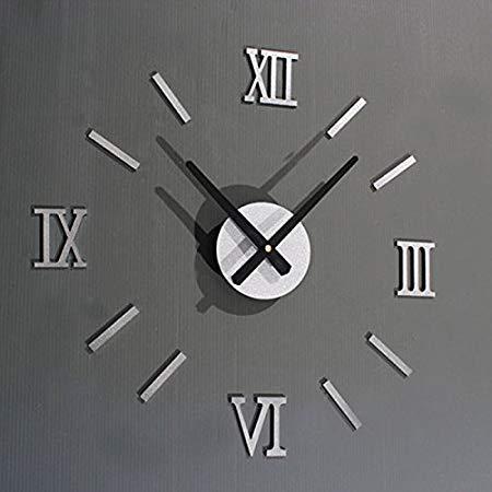 Assyrian 2017 Modern Fashion 1pc Roman Numerals Diy Wall Clock Home Stickers Decorative Art Decorations - Wall Sticker -