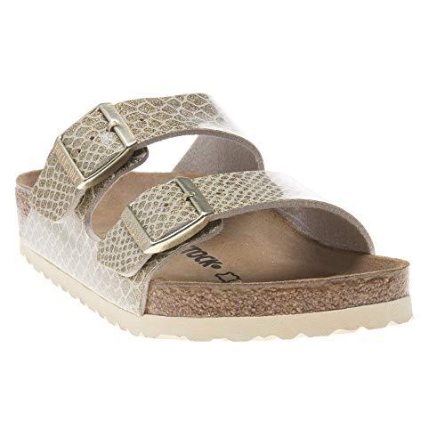 - Birkenstock Unisex Arizona Birko-Flor Magic Snake Gold Sandals 8 W / 6 M US