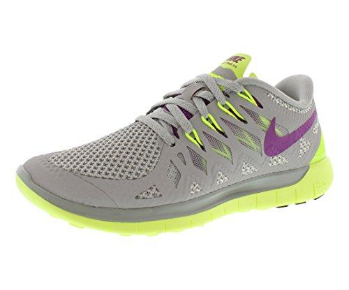 Nike  Free 5.0 - Zapatillas para mujer BASE GREY/VOLT/LT BASE GREY/BRIGHT GRAPE