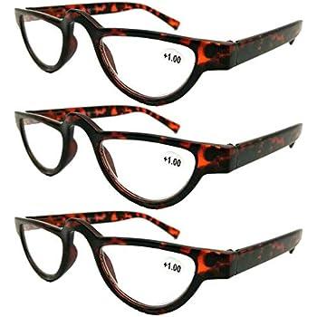 Amazon.com: MINCL/Flat Top Half Frame Oval Reading Glasses